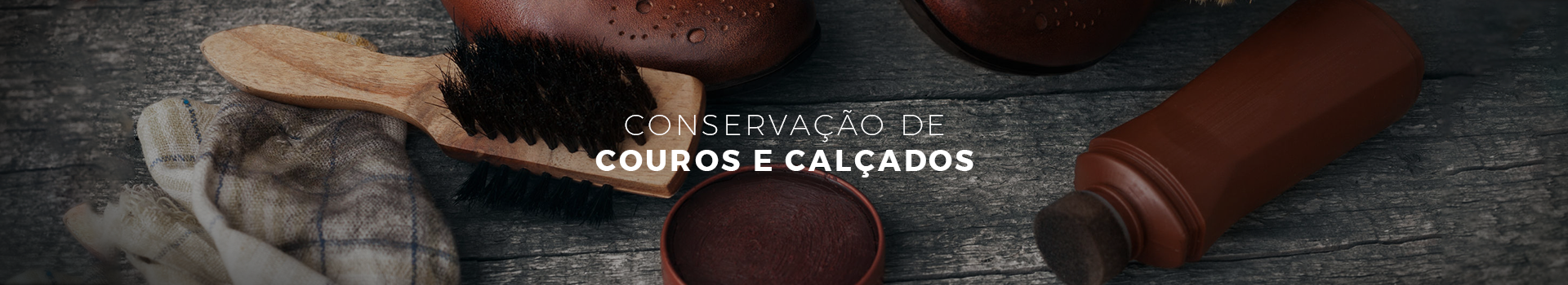 CONSERVAÇÃO DE COUROS E CALÇADOS